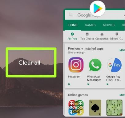 Close all apps Android