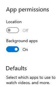 Disable Windows 10 background running apps