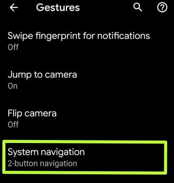 Enable Android Q fully Gesture navigation