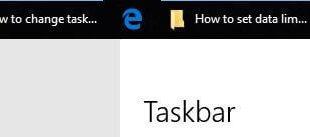 How to change taskbar location in Windows 10