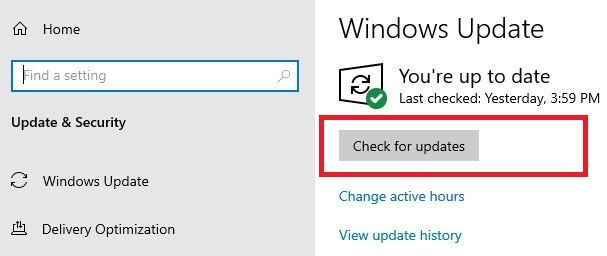 How to check for Windows 10 updates