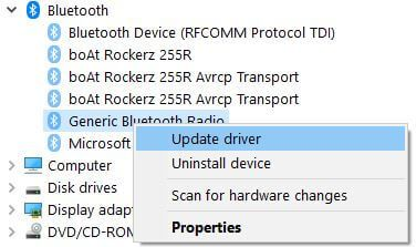 How to fix can't find Bluetooth on Windows 10