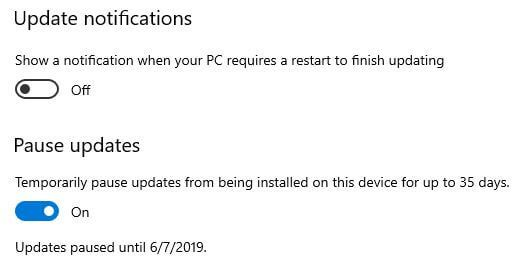 How to pause updates in Windows 10 PC
