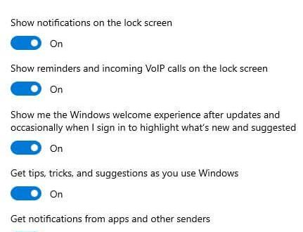 How to turn off notifications Windows 10 action center