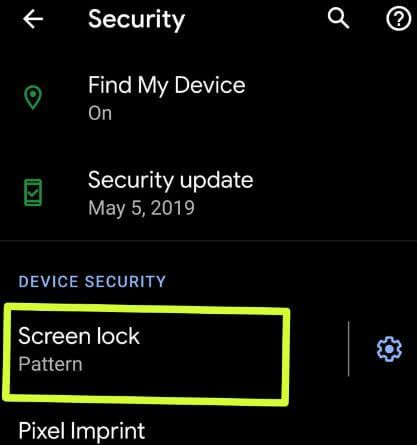 Remove pattern lock on Android