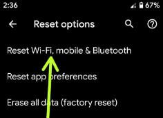 Reset all network settings in Pixel 3a XL