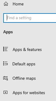 Windows 10 default app settings