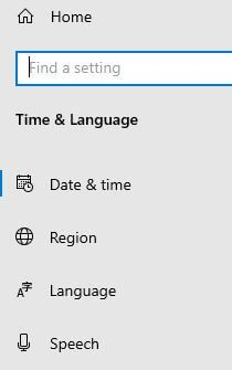 Windows 10 default language settings