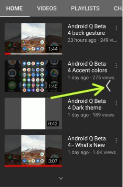Android Q beta 4 back gesture