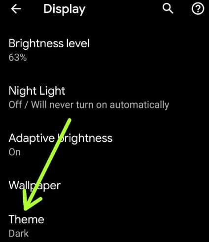 Android Q light mode