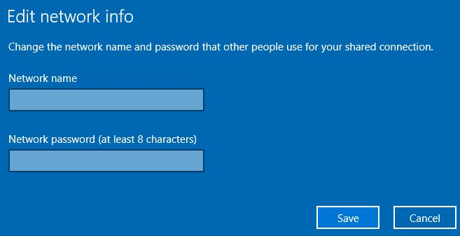 Create a hotspot on Windows 10 PC