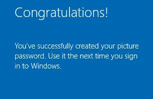Created your picture password on Windows 10