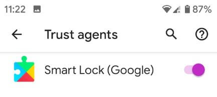 Enable Google smart lock on Pixel XL