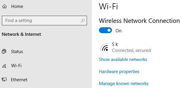 How to enable WiFi in Windows 10 Laptop