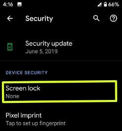 How to turn off screen lock on Pixel 3a and 3a XL