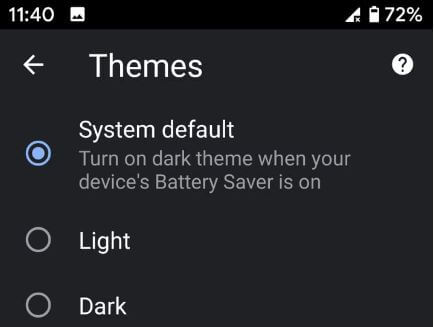 How to turn on dark mode in Google Chrome Android