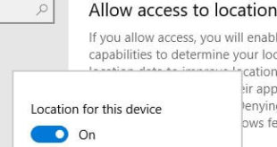 How to turn on location in Windows 10 PC