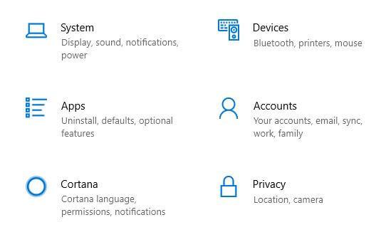 Open Windows 10 accounts settings