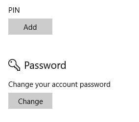 Set up PIN on Windows 10 Laptop