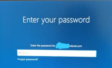 Enter Windows 10 password to reset Sign in PIN