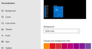 How to change background color in Windows 10