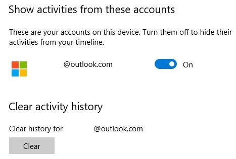 How to clear activity history in Windows 10 PC