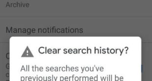 How to delete search history in Gmail app on Android