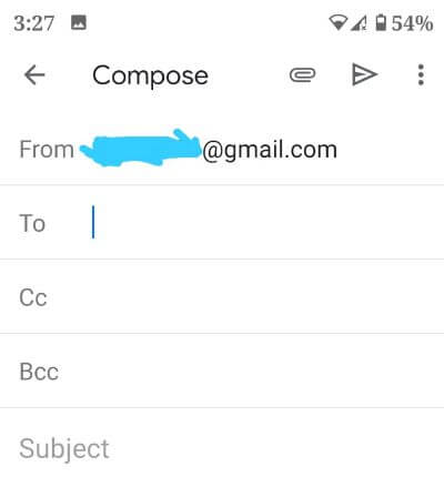 How to send email in Gmail app from Android device
