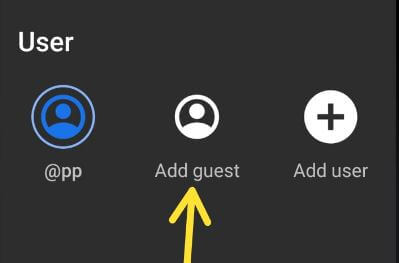 How to switch to guest mode in Android 9