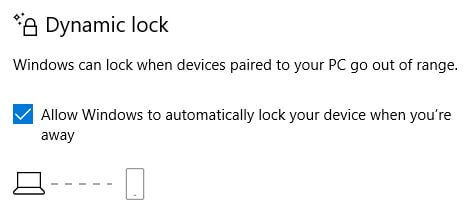 How to use dynamic lock in Windows 10