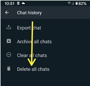 Permanently Delete WhatsApp Chat History