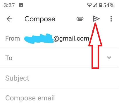 Send email in Gmail app from Android