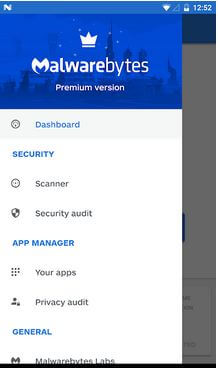 Malwarebytes security app for Android