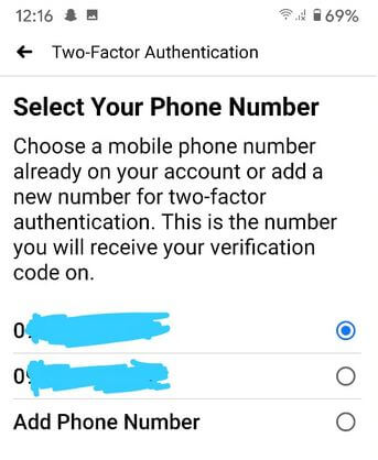 Activate 2 factor authentication on Facebook app on your Android