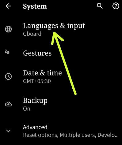 Add a language in Android 10