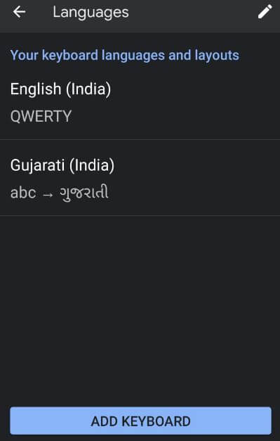 Add keyboard language in Android 10 device