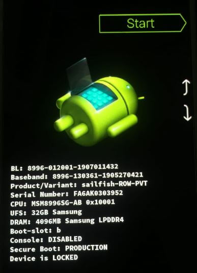 Android 10 start menu