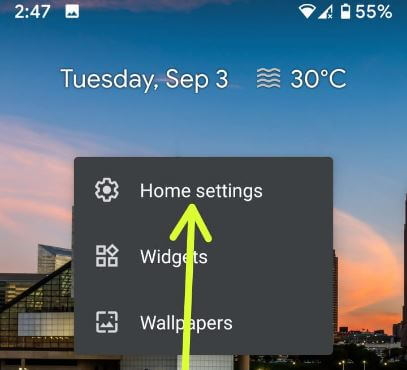 Customize home screen on Android 10