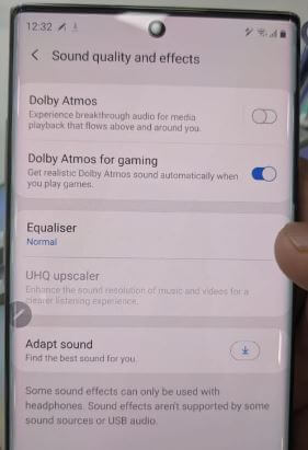 Enable and use Dolby Atmos on Galaxy Note 10 plus
