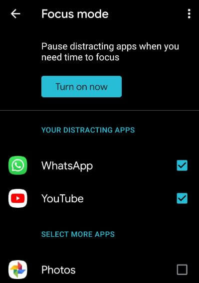 How to enable and use focus mode in Android 10