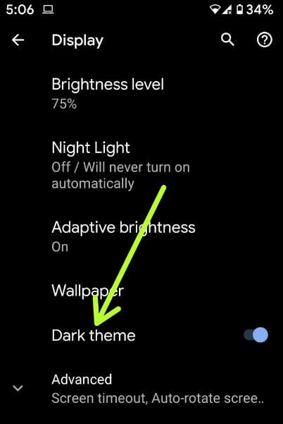 How to enable dark mode on Pixel 4 XL and Pixel 4