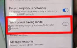 How to enable wifi power saving mode on Galaxy Note 10 plus