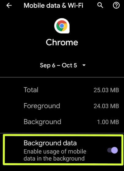 How to restrict data usage on Android 10