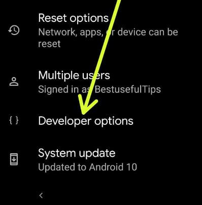 How to turn on developer options on Android 10 devices