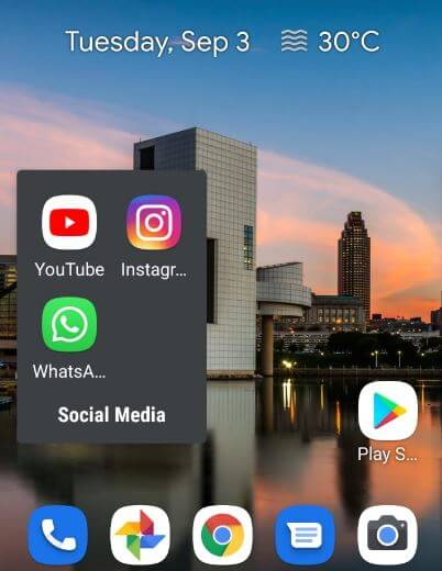 Organize home screen on android 10