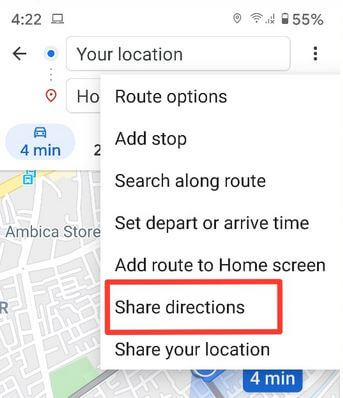 Share Google Map Location on WhatsApp Android Smartphone