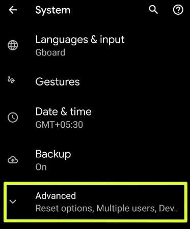 Use developer mode on Google Pixel 4