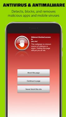 Webroot mobile security App For Android