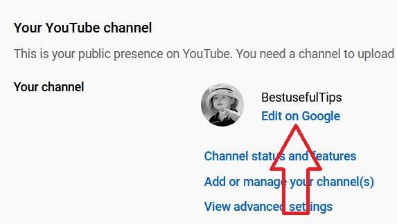 Change YouTube channel name on Desktop PC