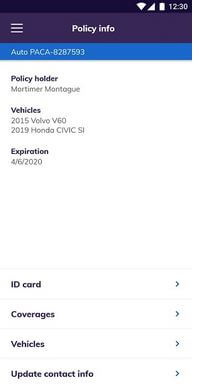 Esurance Mobile app for Car Insurance Android